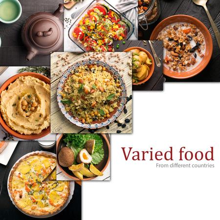 さまざまな国の料理。西洋や東洋料理 写真素材