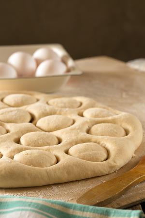 kazakh: Traditional Kazakh (Asian) baursak dish prepared from dough