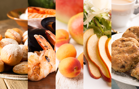 bisquit: Collage of photos of natural food (in orange colors)
