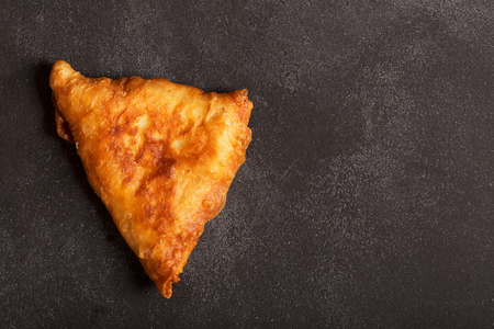 be prepared: Deep fried indian dish samosa. It could be prepared with meat or vegetables