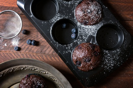 Chocolate muffins - american sweet food