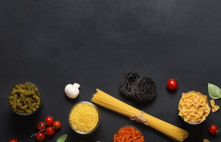 To cook great italian pasta with sauce take any kind of pasta and some vegetables such as tomatoes or mushrooms Stock Photo
