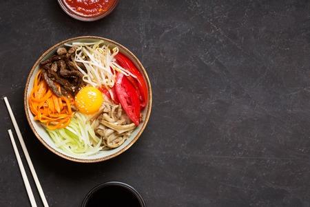 Korean rice dish Bibimbap. 写真素材