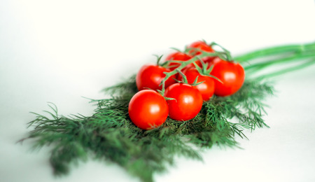 dill: cherry tomatoes on dill