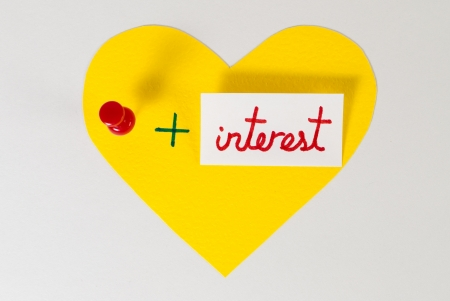 I love pin + interest Stock Photo