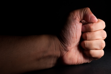 human fist: I support you Stock Photo