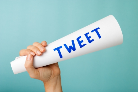 Tweet megaphone concept Stock Photo
