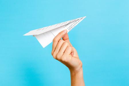 Concetto Paper airplane Archivio Fotografico - 35139628