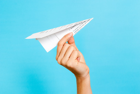 Paper airplane concept Stock Photo - 35139628