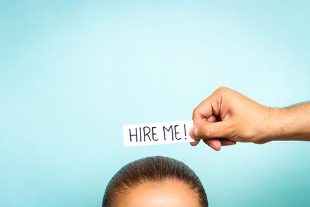 vrouw op zoek naar een baan