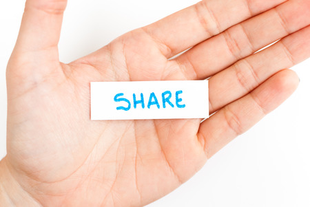 sharing: Showing share word