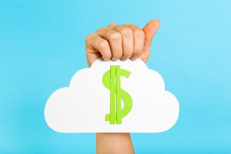 Cloud servers pricing concept
