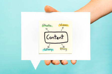 Strategia di contenuti concetto on-line Archivio Fotografico - 35139894
