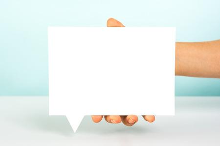 Message speech bubble concept