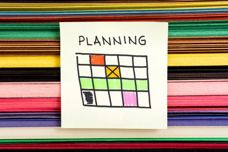 event planning: Planning calendar concept Stock Photo