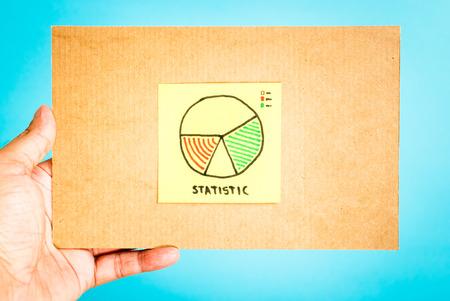 metrics: Business statistics report concept Stock Photo