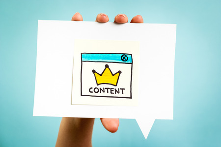 network marketing: Content marketing online concept