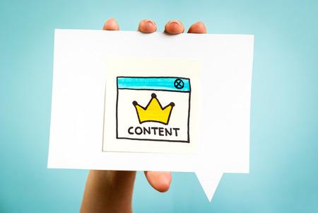 Marketing Content concetto on-line Archivio Fotografico - 35140936