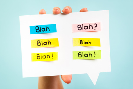 Blah Blah Blah message on speech bubble Stock Photo