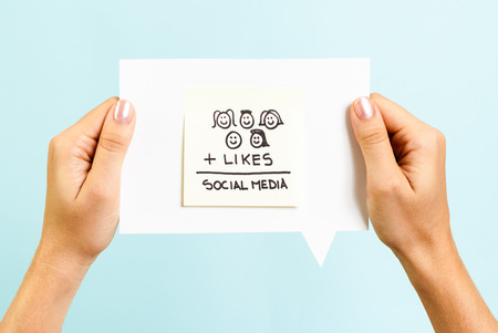 masses: Social media formula on speech bubble
