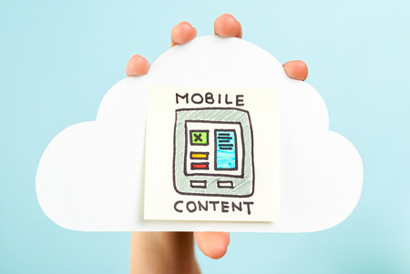 Mobile content concepto on internet concept