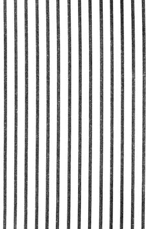 White rough fabric texture background with vertical black lines striped pattern.