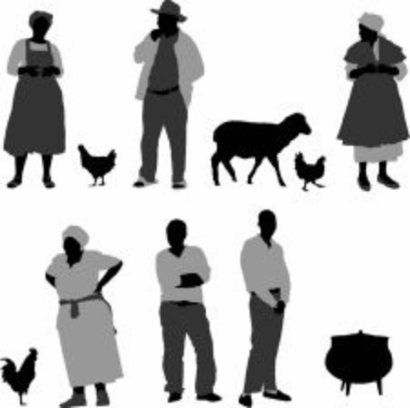 South african black rural community farmers