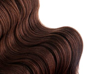 Isolated brown wavy hair with room for text