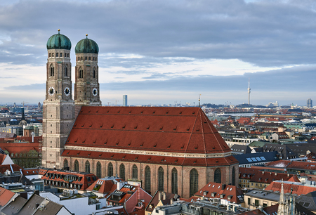 Cathedral of Our Dear Lady in Munich Stockfoto