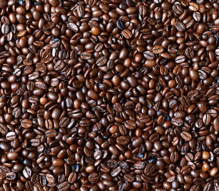 coffee grains background and texture