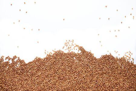 buckwheat on pure white background