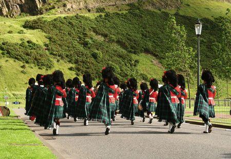 Meeting the Queen ceremony, Edinburgh Stock Photo