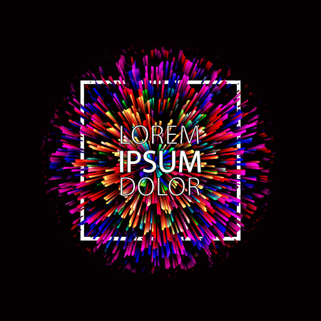 Abstract colorful explosion on dark background