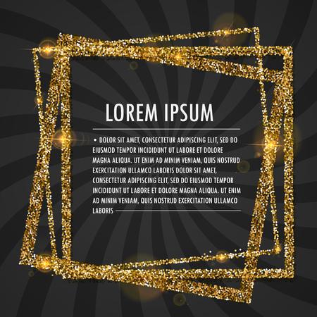 Text in glitter frame Vettoriali