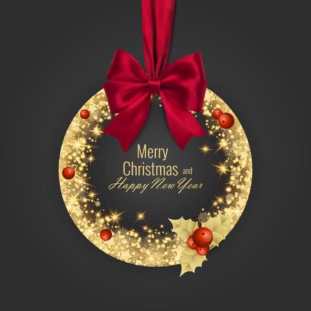 Wesołych Świąt i szczęśliwego nowego roku 2018 kartkę z życzeniami, ilustracji wektorowych
