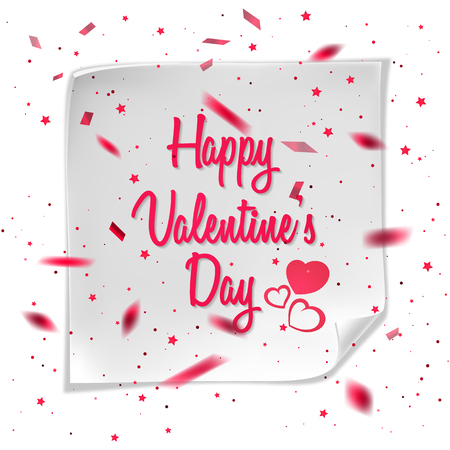 Greeting card with Valentines day. Vector eps 10