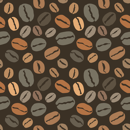 Seamless pattern with coffee beans, cover for your menu or banner. Vector eps 10 illustration 向量圖像