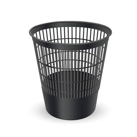 Realistic Trash for paper waste. Vector Illustration