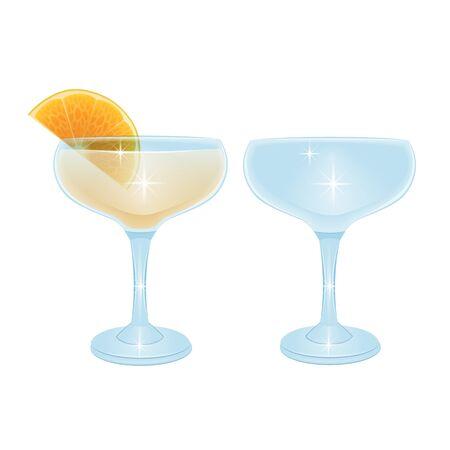alcoholic cocktail beverage vector set collection Vektoros illusztráció