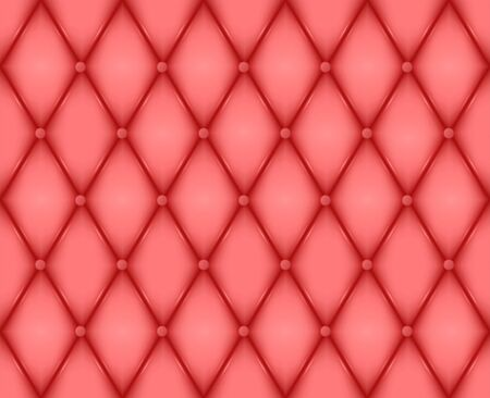 Luxury red leather texture. Genuine leather pattern. Rhombus geometric background.