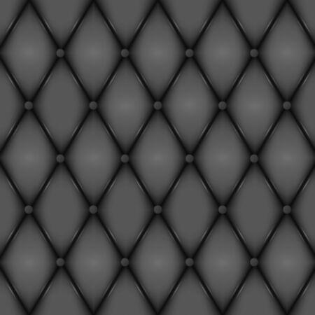 Luxury Black leather texture. Genuine leather pattern. Rhombus geometric background.