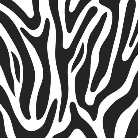 Texture of Zebra White and black stripes for the design of your products, fashionable texture for the cover of a magazine or copybook, Vector Eps 10 illustration Ilustração