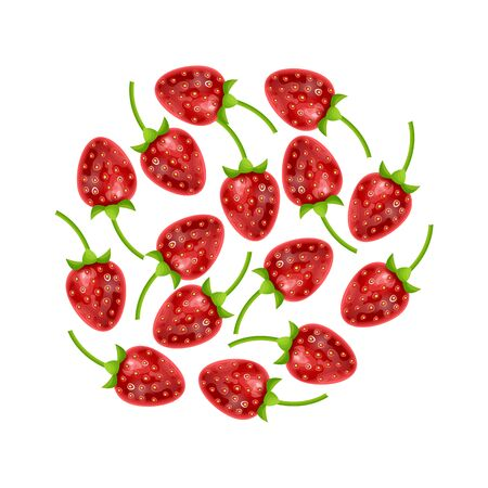 Set of strawberries isolated on white background, Can be used in your own design, illustration, appearance and etc, vector illistration Stockfoto - 147259834