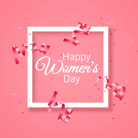 Greeting card, lovely happy womens day international celebration background