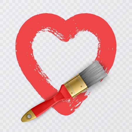 Heart shape Love illustration. Design for Valentine's day card, vector illustration