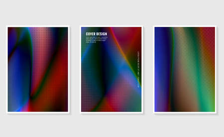Set of trendy gradient cover design abstract background, template of a4 format layout can use modern poster or flyer