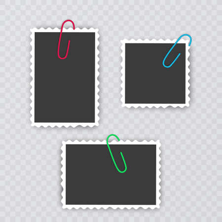 Set of vintage photo frames, Photo realistic Photo Frame Template for your photos