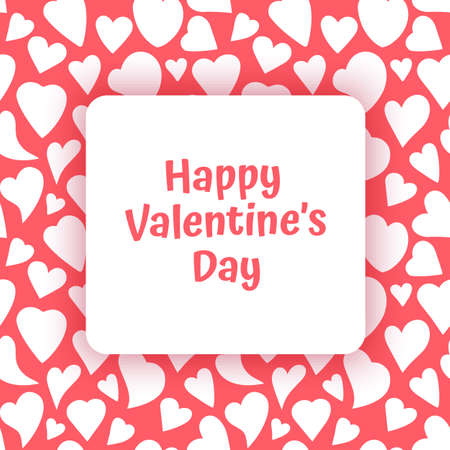 Valentine's day sale background with heart, illustration for Wallpaper or flyers and banners