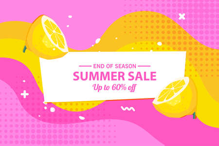 Summer sale banner template, Summer sale bright background for your advertisement