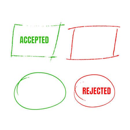 Set Of Red Hand Drawn Circles, marks for choice text or object selection